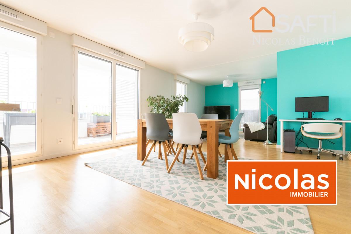 Massy appartement NICOLAS - MASSY ATLANTIS, place du Grand Ouest appartement 5 pièces + 2 parkings